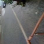 道路が川・・・・・